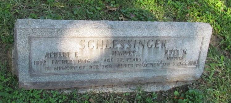 Albert and Rose Schlessinger gravestone New Bethlehem St. Louis MO