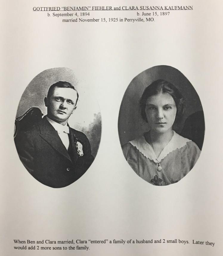 Benjamin and Clara (Kaufmann) Fiehler