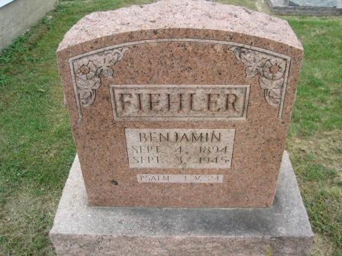 Benjamin Fiehler Jr. gravestone Concordia Frohna MO