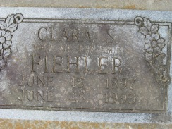 Clara Fiehler gravestone Concordia Frohna MO