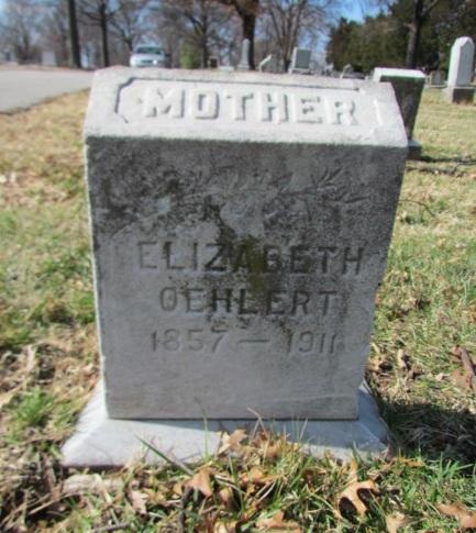 Elizabeth Oehlert gravestone Concordia St. Louis MO