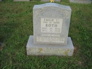 Emilie Roth gravestone Salem Farrar MO