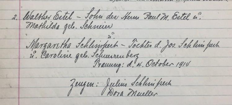 Estel Schlimpert marriage record Christ Jacob IL