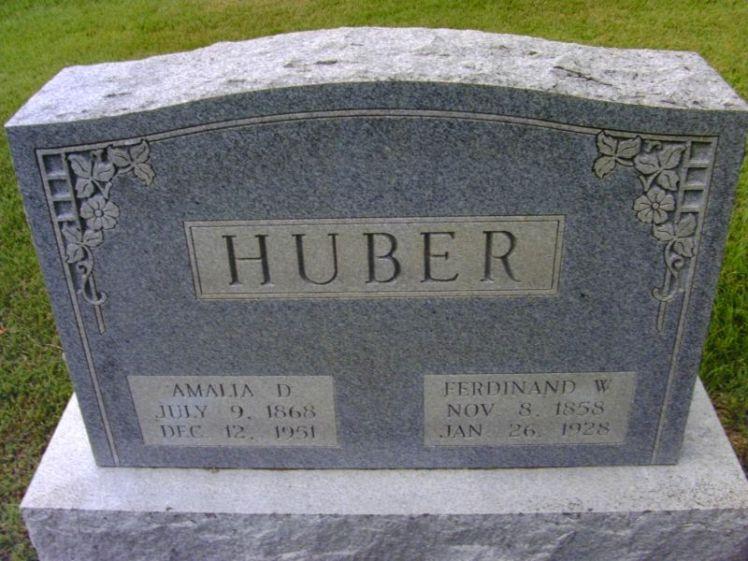 Ferdinand and Amalie Huber gravestone Zion Hillsboro MO