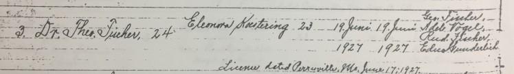 Fischer Koestering marriage record Trinity Altenburg MO