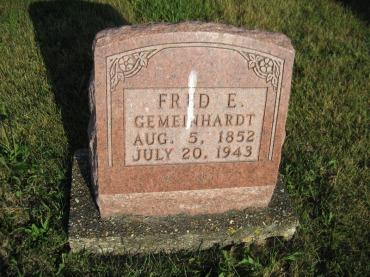 Friedrich Gemeinhardt gravestone St. Paul Wittenberg MO
