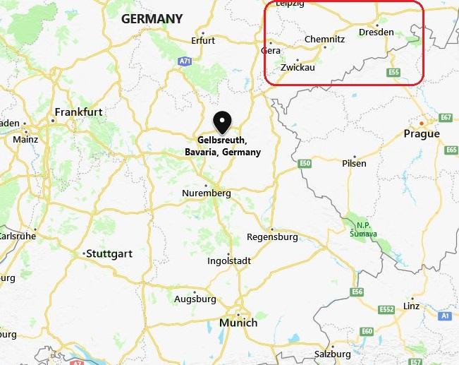 Gelbsreuth Bavaria Germany map