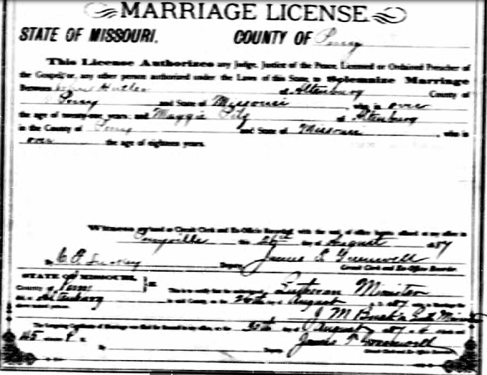Hadler Pilz marriage license