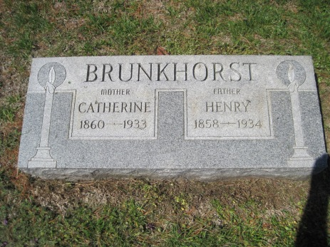 Heinrich and Katherine Brunkhorst gravestone Christ Jacob IL