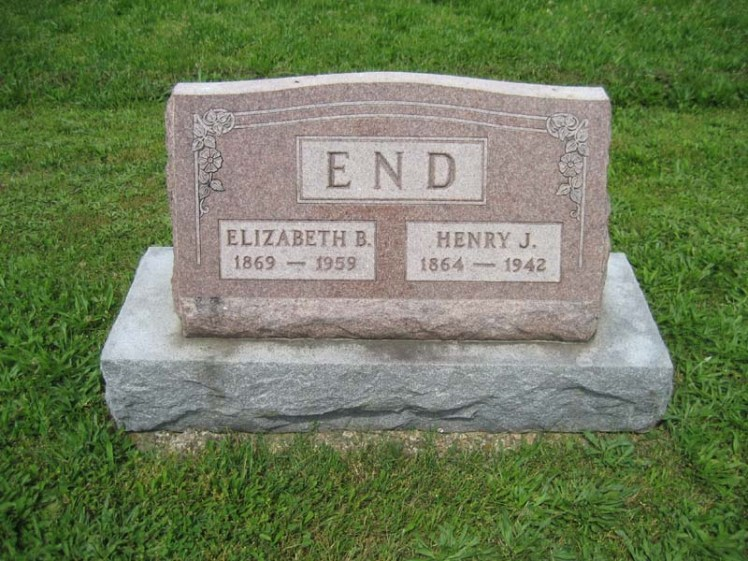 Henry and Elizabeth End gravestone Immanuel Perryville MO