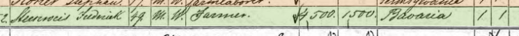 Henry Sternweis 1870 census 1 Jefferson Township IA