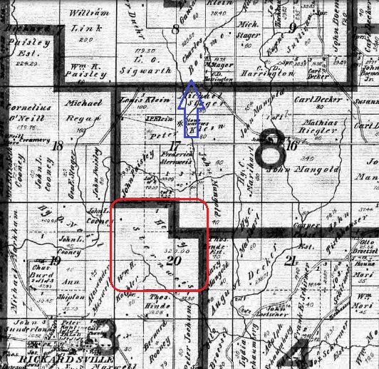 Henry Sternweis land map Dubuque County IA 1906