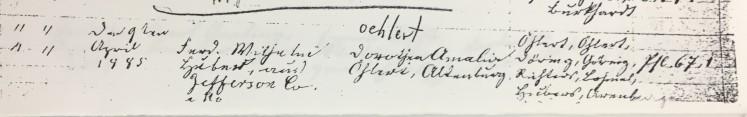 Huber Oehlert marriage record Trinity Altenburg MO
