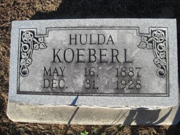 Hulda Koeberl gravestone Immanuel Altenburg MO
