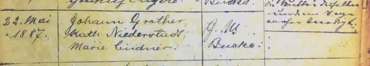 Hulda Petzoldt baptism record 2 Immanuel Altenburg MO
