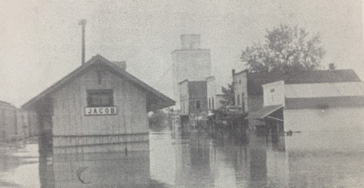 Jacob Illinois flood downtown