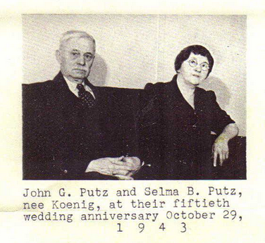 John and Selma Putz 50th anniversary