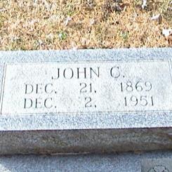 John C. Stueve gravestone Zion Crosstown MO