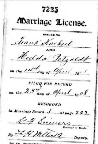 Koeberl Petzoldt marriage license