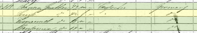 Louise Guenther 1850 census St. Louis MO