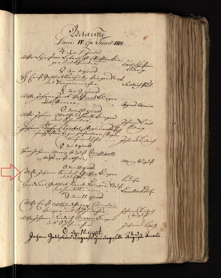 Louise Guenther baptism record Dresden Germany