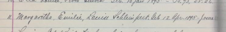 Margaret Schlimpert 1908 confirmation record - Christ Jacob IL