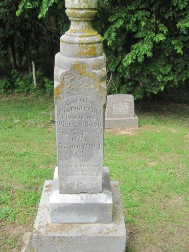 Margaretha Popp gravestone Concordia Frohna MO