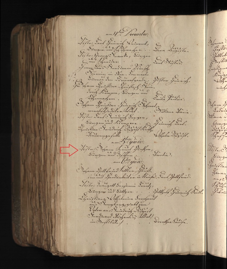 Martin Guenther baptism record Dresden Germany 1831