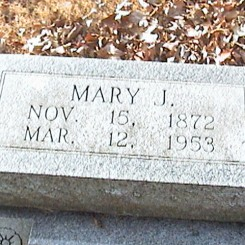Mary Stueve gravestone Zion Crosstown MO