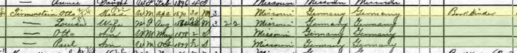 Otto Tirmenstein 1900 census St. Louis MO