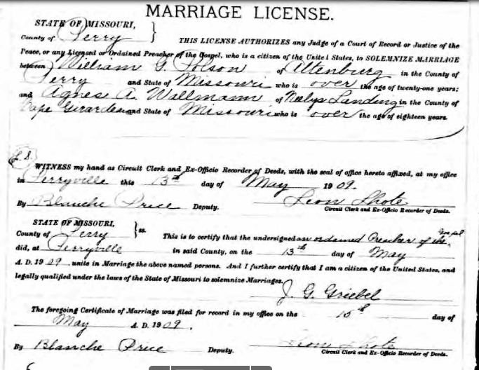 Polson Wallmann marriage license
