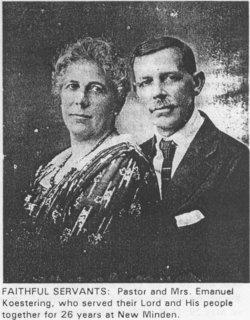 Rev. Emmanuel and Katharina Koestering