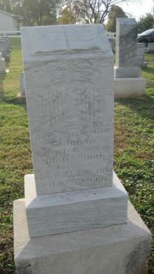 Susanna Rauss gravestone Salem Farrar MO