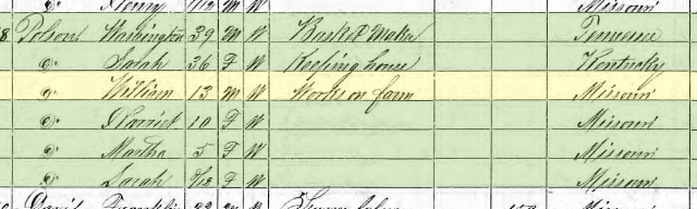 William Polson 1870 census Cinque Hommes Township MO