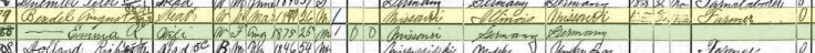 August Bendel 1900 census Fountain Bluff Township IL