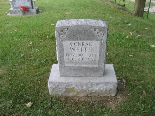 Conrad Weith gravestone Peace Friedenberg MO