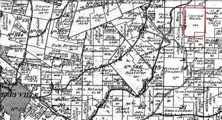 Conrad Weith land map 1915