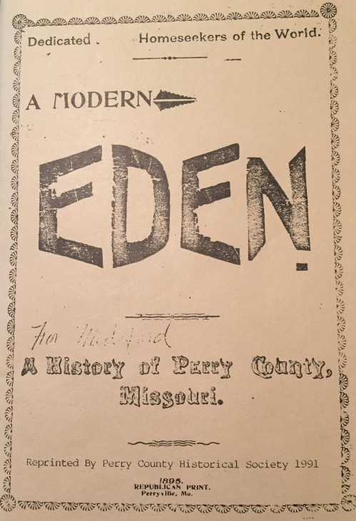 Eden anniversary book Perry County 1895