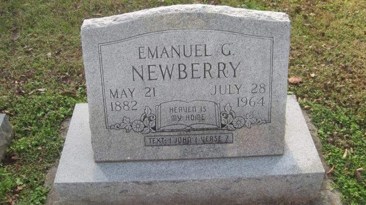 Emanuel Newberry gravestone Salem Farrar MO