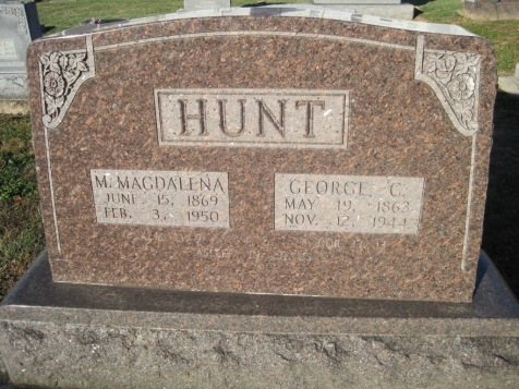 George and Magdalena Hunt gravestone Immanuel Altenburg MO
