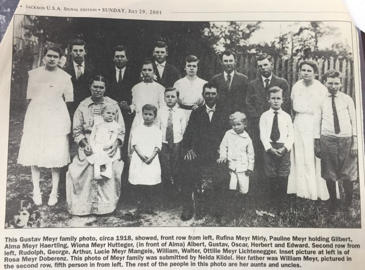 Gustav Adolph Meyr family