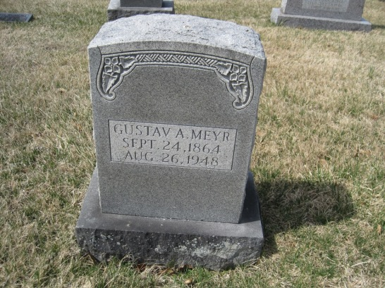 Gustav Meyr gravestone Immanuel New Wells MO