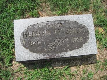 Herman Petzoldt gravestone Zion Pocahontas MO