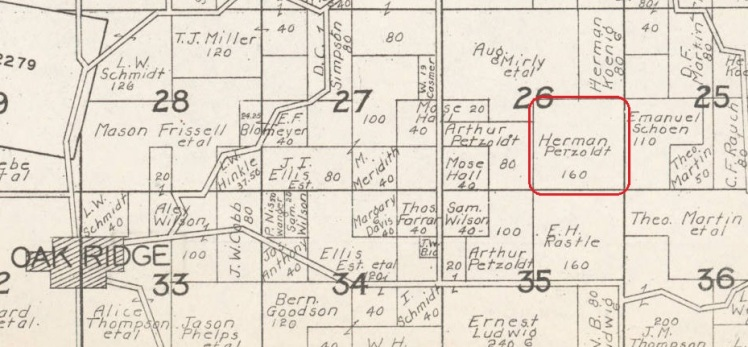 Herman Petzoldt land map 1930