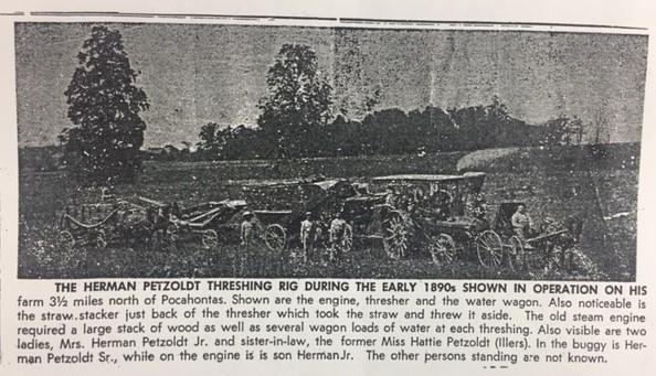 Herman Petzoldt threshing business 1