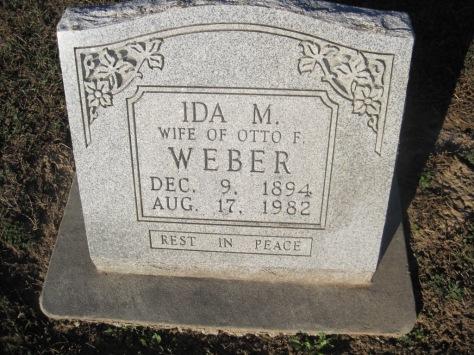 Ida Weber gravestone Immanuel Altenburg MO