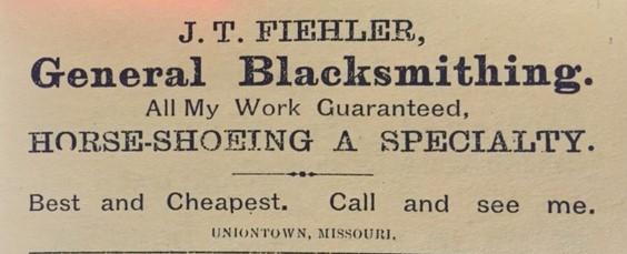 J.T. Fiehler Blacksmith Uniontown