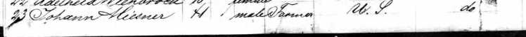 Johann Heinrich Miesner Immigration 1866