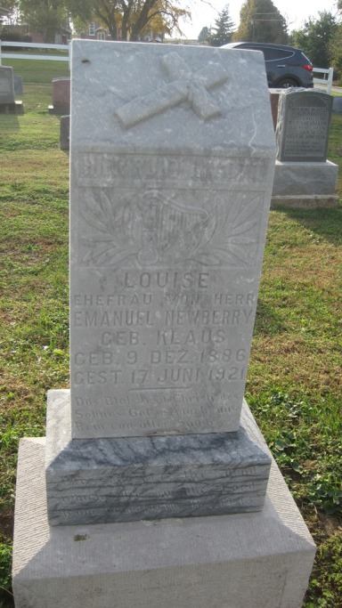 Louise Newberry gravestone Salem Farrar MO