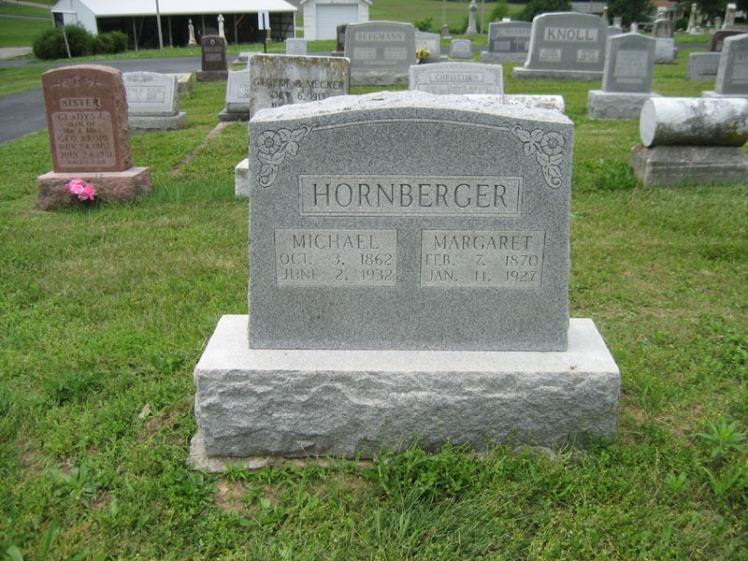 Michael and Margaret Hornberger gravestone Immanuel Perryville MO